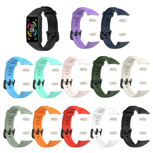 Breathable Solid Color Silicone Sport Wrist Strap For Huawei Honor Band 6