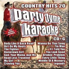 PARTY TYME KARAOKE CD - COUNTRY HITS 20 (2017) - NEW UNOPENED