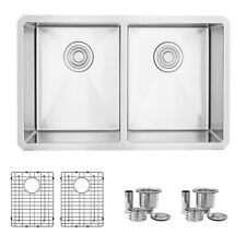 "28""L x 18""W Stainless Steel Double Basin Undermount Kitchen Sink"