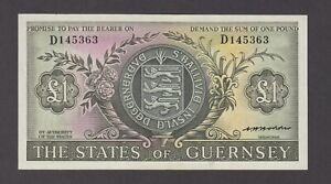 Guernsey P.45b-5363, 1 Pound Sig. Hodder PFX D, AU, We Combine