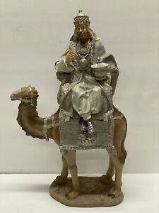 "RAZ Import 17.5"" Single Silver Wiseman King on Camel 3757939 Christmas NEW #2"