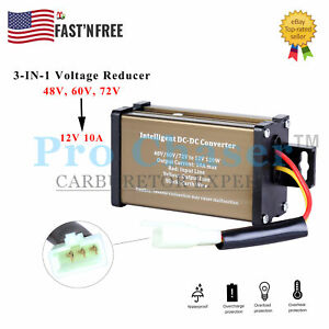 Ebike electric bicycle DC-DC Converter Adapter 48V 72V TO 12V 10A