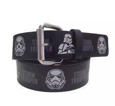 New Star Wars Disney Boys Black Storm Trooper Belt Size S/M adjustable