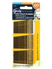 GOODY STAY TIGHT BROWN BOBBY PINS - 60 PCS. (01520)