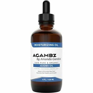 Pure Unrefined Organic Jojoba Oil: by Agambz  - 4oz - Hair, Skin Repair, Winter