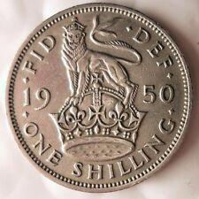 1950 GREAT BRITAIN SHILLING - Uncommon Vintage Coin - BRITAIN BIN #4/2/SHIL
