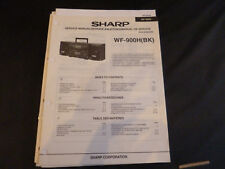 Original Service Manual Sharp wf-900h