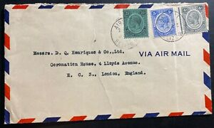1957 Belize British Honduras Airmail cover To London England