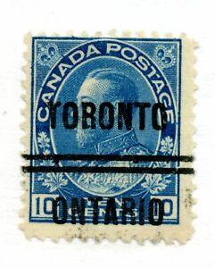 Canada precancels - Town style Toronto 5-117, wrinkle CV $30