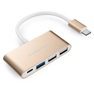 LENTION 4-in-1 USB C auf USB 3.0 HUB Ladeadapter für 2020 MacBook Pro Air Dell