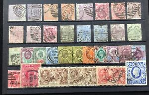 GB Q. Victoria - George VI used selection with values to 10/-