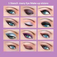 3 Set Quick Makeup Stencils+12 Eyeliner Stickies Eye Shadow Eyebrow ORIGINAL AU1