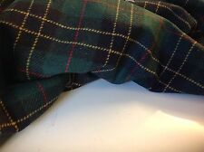 "NEW Designer Multi Colour Wool Check Fabric 60"" 153cm Seen Online Catwalk Images"