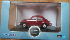 Oxford Diecast 76VWB002 - Volkswagen Beelte in Ruby Red - 1:76th Scale - NEW