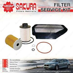 Sakura Oil Air Fuel Filter Service Kit for Holden Captiva CG 2.0L TD 05/07-01/11