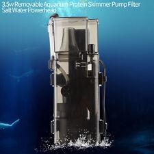 3.5WDetachable Aquarium Protein Skimmer Pump Filter Salt Water Powerhead Acrylic