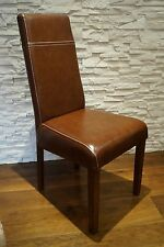 Echtleder Stuhl 100%  Echtes Leder stühle Lederstühle Esszimmer Stuhl