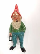TALL 26 cm ANTIQUE GERMAN CERAMIC FIGURE  GARDEN DWARF GNOME CHRISTMAS