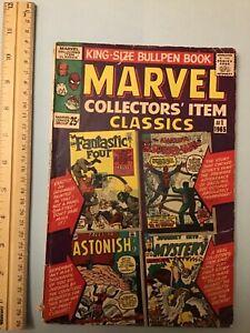 Vintage Marvel Collectors Item Classics 1 Comic 1965 Silver Age Spider-Man Thor