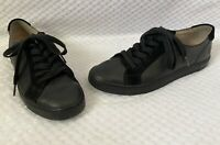 Frye Mindy Low Leather Lace Up Black Fashion Sneakers Tennis Shoes Sz 8 GUC