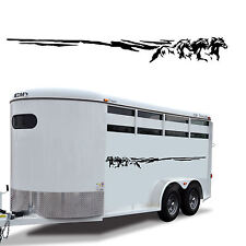 Trailer 3 Horses Stripe Side Body Decal RV Truck 3HS