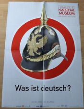 GERMAN EXHIBITION POSTER 2006 - KAISER HELMET - WHAT IS GERMAN? art print