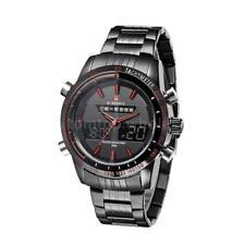 NAVIFORCE 9024 Mens Quartz Wristwatch Fashion LED Analog Digital Watch G7B0