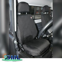 LAND ROVER DEFENDER PAIR OF WATERPROOF FRONT SEAT COVERS. PART- DA2818BLACK