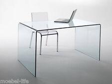 CHANDRA Glas Schreibtisch Echtglas 120x60x75cm Glastisch Bürotisch Computertisch
