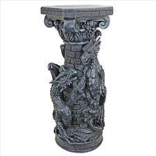 Medieval Crypt Demons Breathtaking Gothic Guardians Dragon Sculptural Column