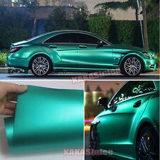 50FT x 5FT Whole Car Wrap Metallic Satin Matte Chrome Vinyl Sticker Lake Green F