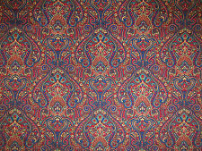 KLEE VELVET JEWEL CURTAIN UPHOLSTERY SOFT FURNISHING FABRIC SOFT PAISLEY FLORAL
