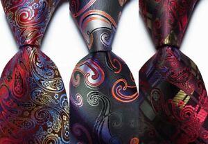 3 pcs New Classic Paisley JACQUARD WOVEN 100% Silk Men's Tie Necktie