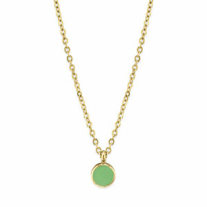 1928 Jewelry 14K Gold Dipped Small Petite Round Delicate Enamel Necklace