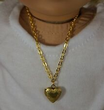 "JEWELRY For 15"" and 18"" American Girl Doll Heart Lock Pendant Opens Accessories"