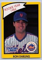 1990  RON DARLING - Kenner Starting Lineup Card - NEW YORK METS - (Yellow)