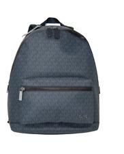 Michael Kors Cooper Large Signature Jet Set Logo Backpack Baltic Blue NWT
