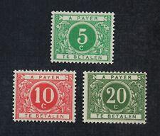 CKStamps: Belgium Stamps Collection Scott#J12-J14 Mint H OG