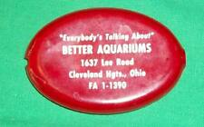 VTG COIN POUCH PURSE ADVERTISING AQUARIUM CLEVELAND HEIGHTS OHIO PHONE QUIKOIN