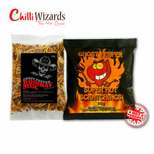 Chilli Wizards Ghost Pepper Pig, Pork Scratchings.& Ghost Pepper Bombay Mix