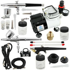 New OPHIR 3x Airbrush Cake Decoration System Kit Air Spray Compressor Set 220V