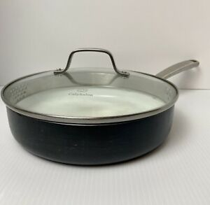 """Calphalon 10"""" Ceramic & Stainless Steel 5003 3 Qt Pan Frying Skillet  With Lid"""