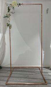 Copper Rose Gold Wedding Frame Stand Backdrop 22mm