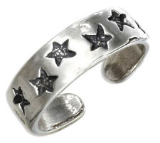 Adjustable Stars Toe Ring Sterling Silver 925 Best Deal Plain Jewelry USA Seller