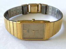 Vintage Seiko Lassale Cuarzo 1230 5159 Reloj Mujer Runs Nuevo Pila Color Dorado
