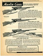 1958 Print Ad of Marlin Model 336 SD A & ADL Lever Action Rifle