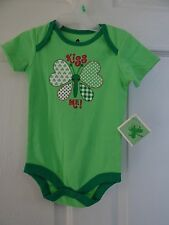 WALMART HOLIDAY LUCKY ONE PIECE OUTFIT 6-9  MONTHS MINT KISS ME!!!  BRAND NEW