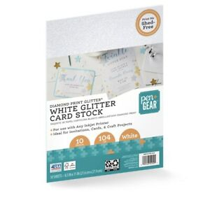 Diamond Print Glitter-White Glitter Card Stock Paper, 8.5 x 11