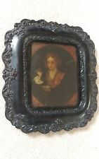 Rare Antique GEORGIAN REVERSE painting on glass in original frame (dommage)