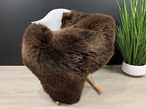 Beautiful Brown Sheepskin Rug Pelt Genuine Natural Soft Seat Cover Pet Bed